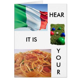 """TOTALLY ITALIAN BIRTHDAY GREETINGS"" CARD"
