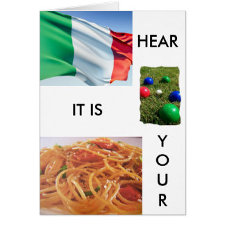 """TOTALLY ITALIAN BIRTHDAY GREETINGS"" GREETING CARD"