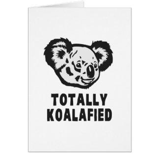 Totally Koalafied Koala Greeting Card