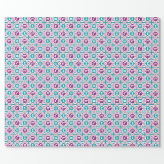 Totally Math Gift Wrap! in pastel Wrapping Paper