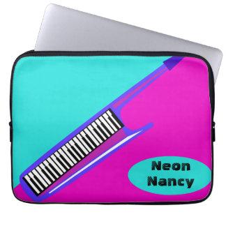 Totally Neon 80's Keytar Laptop Computer Sleeve