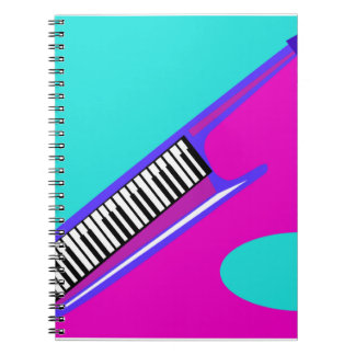 Totally Neon 80's Keytar Notebook