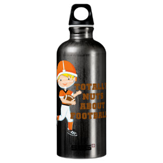 Totally Nuts About Football Aluminum Water Bottle