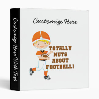 Totally Nuts About Football Binder