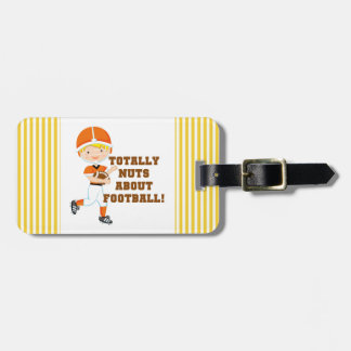 Totally Nuts About Football Tags For Bags