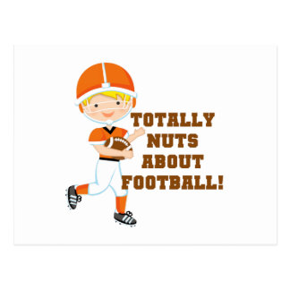Totally Nuts About Football Postcard