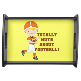 Totally Nuts About Football Serving Tray