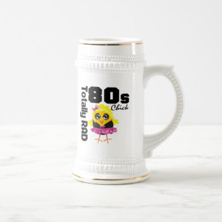 Totally RAD 80s Chick 18 Oz Beer Stein