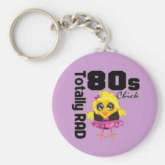 Totally RAD 80s Chick Key Chain