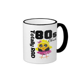 Totally RAD 80s Chick Ringer Coffee Mug