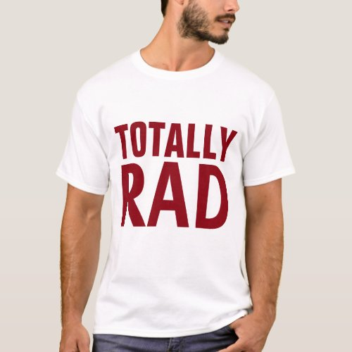 totally rad father gift for dad shirt design