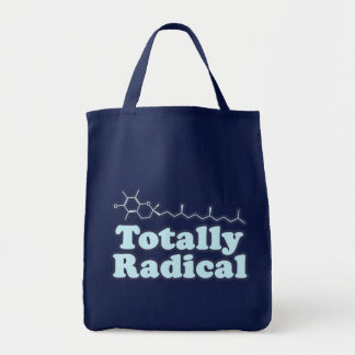 Totally Radical for Science Teachers and Nerds Tote Bags