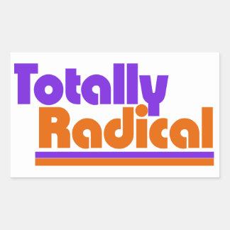 Totally RADICAL Rectangle Sticker