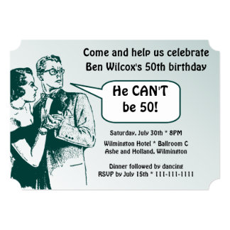 Totally Retro and Fun 50th Birthday Party Card