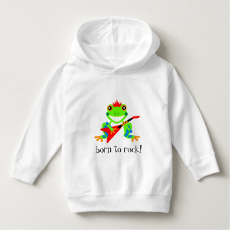 Totally Rockin' Tree Frog with Red Guitar Hoodie