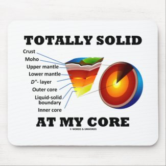 Totally Solid At My Core (Layers Of The Earth) Mousepad