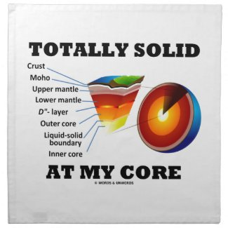 Totally Solid At My Core (Layers Of The Earth) Printed Napkins