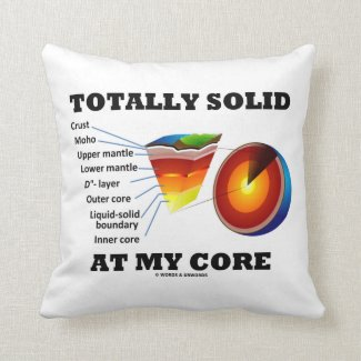 Totally Solid At My Core (Layers Of The Earth) Throw Pillow