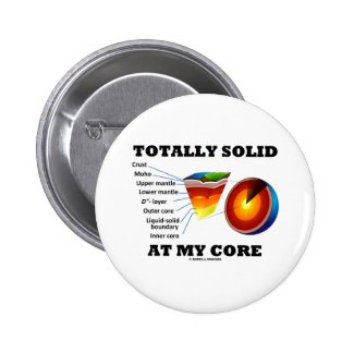 Totally Solid At My Core (Layers Of The Earth) Pin
