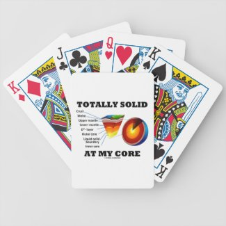 Totally Solid At My Core (Layers Of The Earth) Bicycle Poker Cards