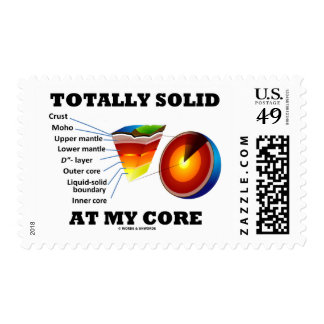 Totally Solid At My Core (Layers Of The Earth) Postage Stamp