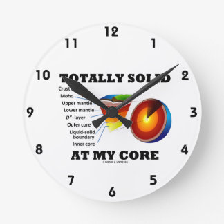 Totally Solid At My Core (Layers Of The Earth) Round Clock
