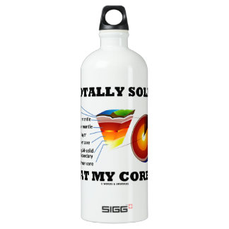 Totally Solid At My Core (Layers Of The Earth) Water Bottle