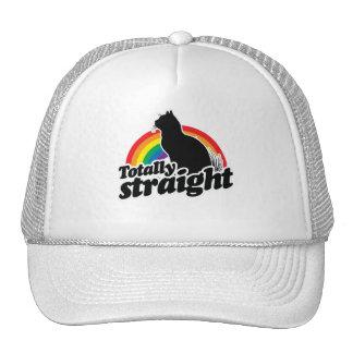 TOTALLY STRAIGHT CAT - WHITE - WHITE -.png Trucker Hat