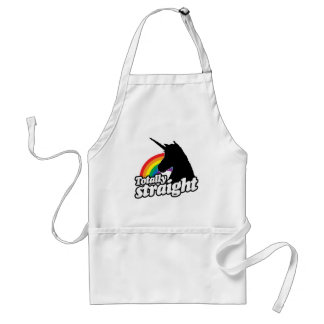 TOTALLY STRAIGHT UNICORN -.png Adult Apron