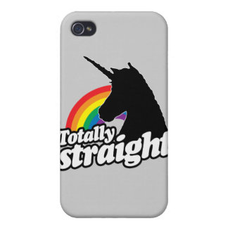 TOTALLY STRAIGHT UNICORN -.png Cases For iPhone 4