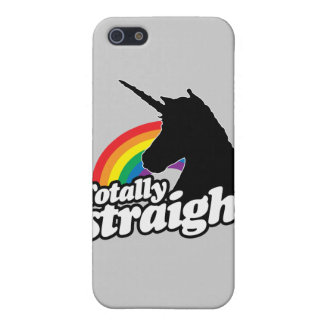 TOTALLY STRAIGHT UNICORN -.png iPhone 5/5S Case