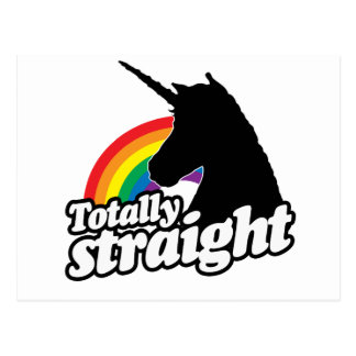 TOTALLY STRAIGHT UNICORN -.png Postcard