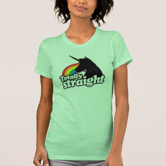 TOTALLY STRAIGHT UNICORN - png T Shirts