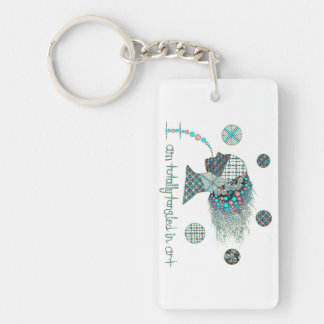 """""""Totally Tangled in Art Graphic Keychain"""