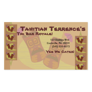 Totally Tiki! Double-Sided Standard Business Cards (Pack Of 100)