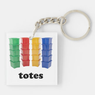 Totally Totes Double-Sided Square Acrylic Keychain