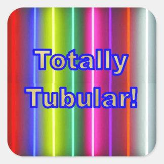 Totally Tubular! Square Sticker