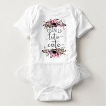 Totally Tutu Cute Baby Girl Boho Floral Frame Tutu Baby Bodysuit