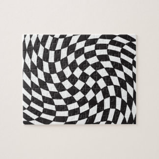 Totally Twisted Squares Jigsaw Puzzle