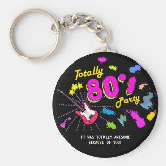 Totalmente 80s fiesta, favores del llavero