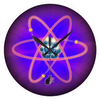 Totalmente atómico reloj redondo grande