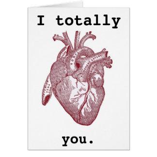 Totalmente corazón I usted Felicitación