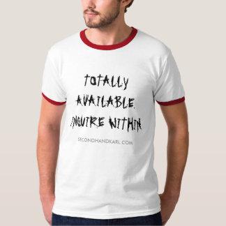 TOTALMENTE DISPONIBLE. INVESTIGUE DENTRO. Camiseta