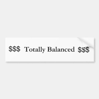 Totalmente equilibrado pegatina para auto