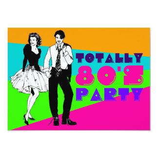 Totalmente fiesta de los años 80 invitaciones personales