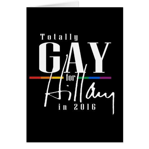 TOTALMENTE GAY PARA HILLARY --.png Tarjeta De Felicitación