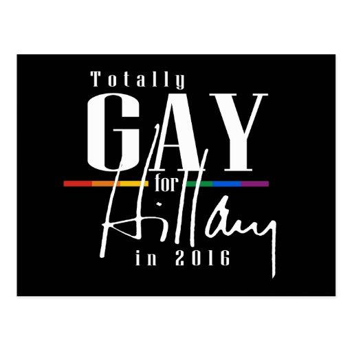 TOTALMENTE GAY PARA HILLARY --.png Tarjeta Postal