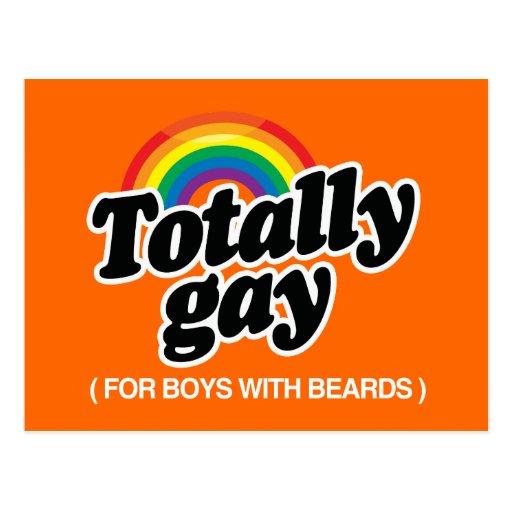 TOTALMENTE GAY PARA LOS MUCHACHOS CON LAS BARBAS - POSTAL
