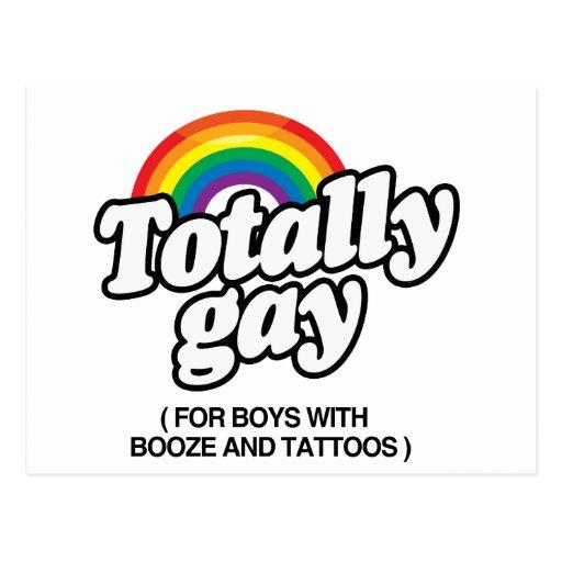 TOTALMENTE GAY PARA LOS MUCHACHOS CON LOS TATUAJES TARJETA POSTAL
