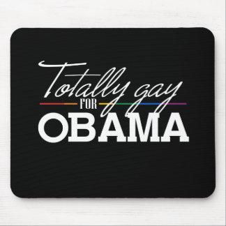Totalmente gay para Obama Tapete De Ratón